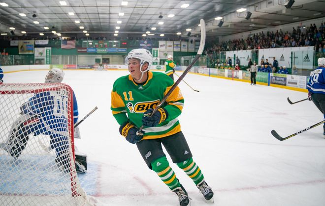 """""""It's been a crazy time, but I'm definitely thankful to have my parents, my brothers, my coaches from the past,"""" Casey Mittelstadt said. """"I can bounce anything off the people that are close to me and have supported me."""" (Glen Stubbe/Special to The News)"""