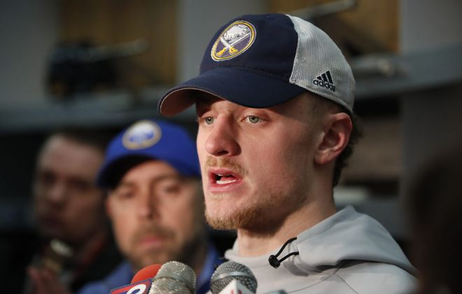Sabre Jack Eichel recently bought a waterfront townhouse from former Bills GM Doug Whaley. (Harry Scull Jr./News file photo)