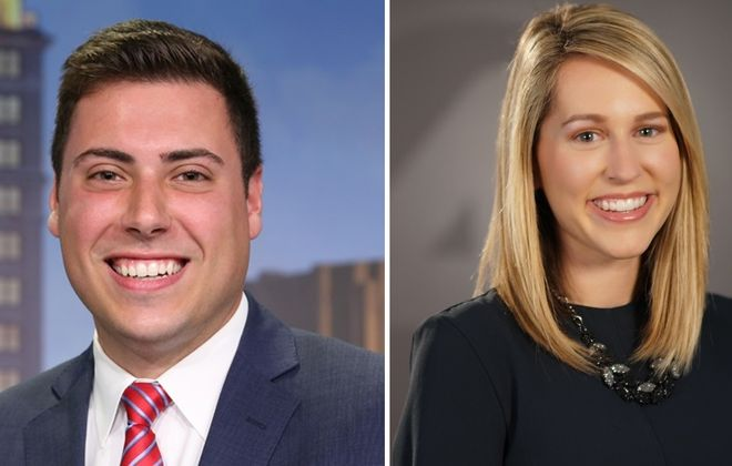 Channel 7's Jeff Slawson and Channel 4's Kelsey Anderson are among breakout broadcasters to keep an eye on. (via WKBW, WIVB)