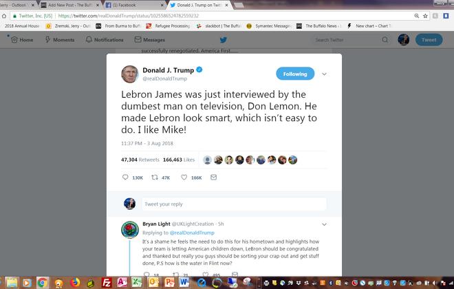 President Trump's late-night Tweet on Friday attacking basketball superstar LeBron James.
