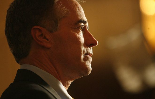 Rep. Chris Collins did not shed new light on the charges he is facing for insider trading allegations. (Derek Gee/News file photo)