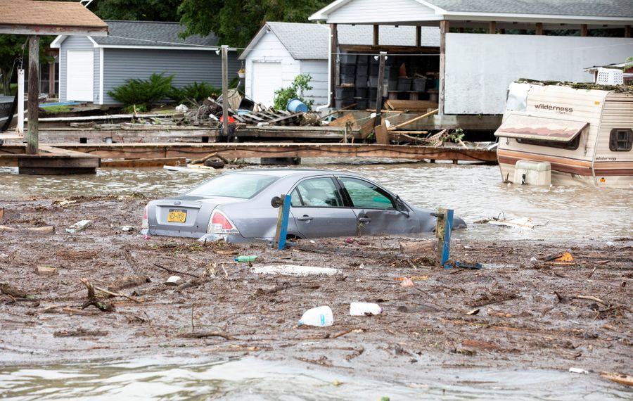 An image of today's flooding from Seneca County. (Courtesy: Office of Gov. Andrew M. Cuomo)