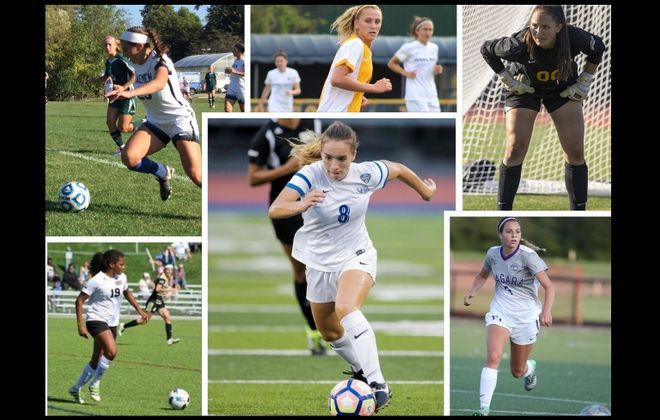 Photos of standout local women's college soccer players, courtesy of St. Bonaventure, Niagara University, UB Athletics and Canisius College.