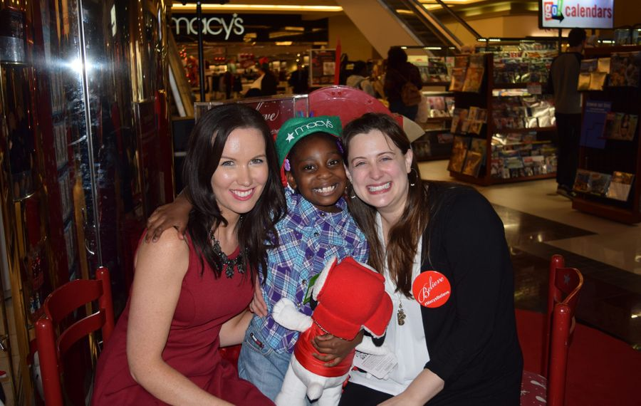 Make-a-Wish is one of the not-for-profits to benefit from CreateAthon. This 2015 photo shows Make-A-Wish Media Relations and Marketing Manager Kate Glaser, Wish Child Ajianaye and Make-A-Wish Development Manager Mary Hazel. (File photo)