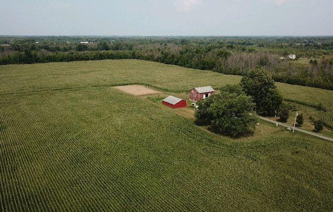 The Lewiston farm where a 5.3-megawatt solar power project was approved in September 2018. Neighbors have filed suit to try to block the project. (John Hickey/News file photo)