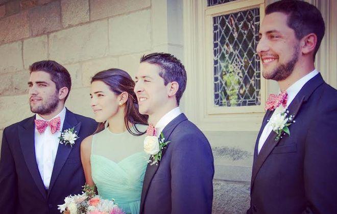 Joe, Liz, John and Max Ortolani at John and Megan Ortolani's wedding. (Photo courtesy of Liz Ortolani)