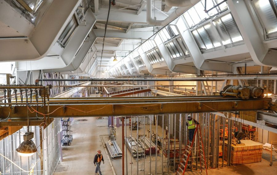 The high ceilings of the new Northland Workforce Training Center apparently posed a problem for the facility's new heating system.  (Derek Gee/News file photo)