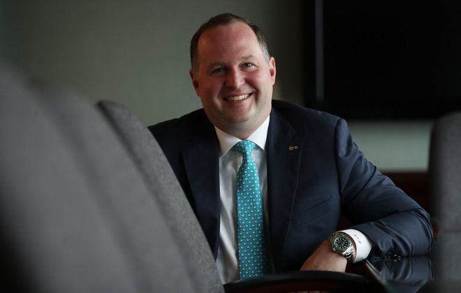 Kyle Morgan developed an affinity for Buffalo while working for a different firm. (Sharon Cantillon/Buffalo News)