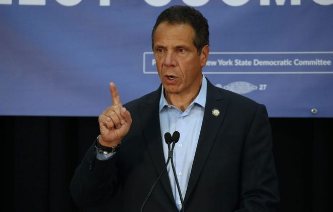Gov. Andrew M. Cuomo signed the Child Victims Act Thursday morning inside the newsroom of the New York Daily News. (Robert Kirkham/Buffalo News file photo)