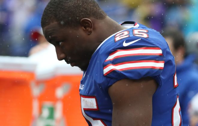 Bills running back LeSean McCoy couldn't get anything going Sunday against the Ravens. (James P. McCoy/Buffalo News)