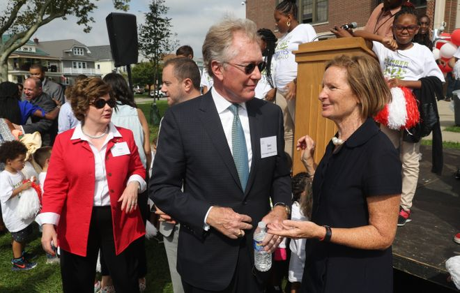 First Niagara Foundation and KeyBank announced a donation of $2 million to Say Yes in honor of Gary Crosby, retired CEO and president of First Niagara on Tuesday, Sept. 18, 2018. (John Hickey/Buffalo News)