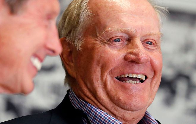 Jack Nicklaus visits The Buffalo News Editorial Board. (Mark Mulville/Buffalo News)