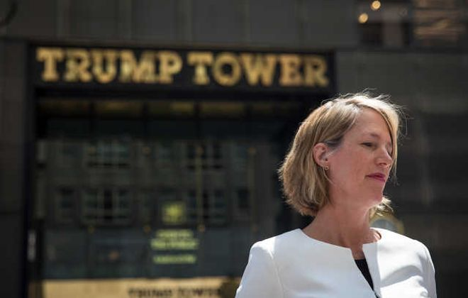 Democratic attorney general candidate Zephyr Teachout campaigns in front of Trump Tower in New York City last month. Among four Democratic candidates for the office, she offers the best opportunity to root out corruption in state government. (Getty Images)