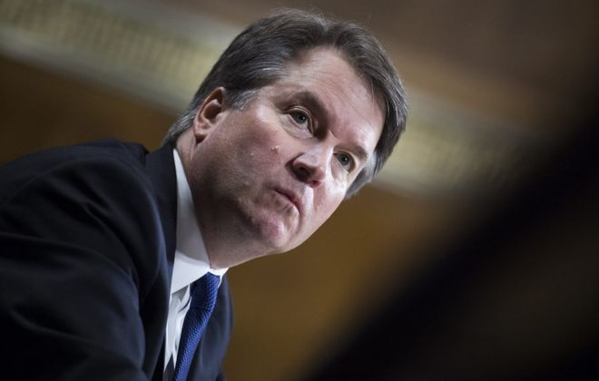 Brett Kavanaugh testifies during the Senate Judiciary Committee hearing on his nomination be an associate justice of the Supreme Court of the United States, focusing on allegations of sexual assault by Kavanaugh against Christine Blasey Ford in the early 1980s. (Tom Williams/Getty Images)