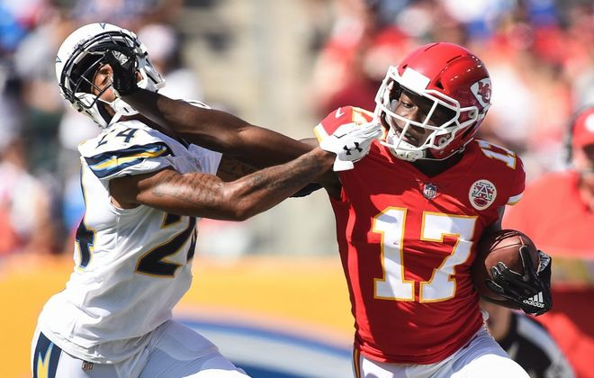 The Chargers had some defensive struggles against the Chiefs' passing attack. (Kevork Djansezian/Getty Images)