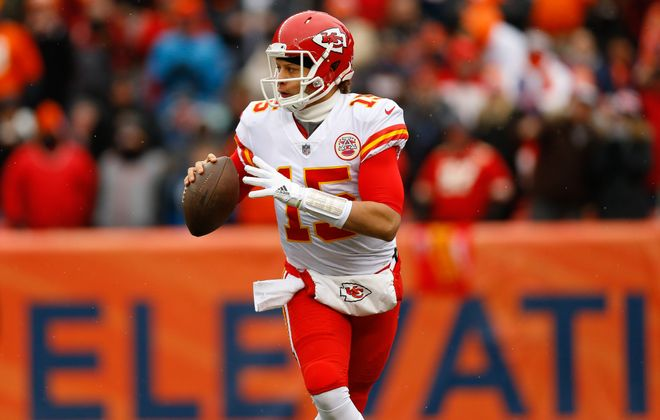 Chiefs quarterback Patrick Mahomes will lead Kansas City against Baltimore and its top-ranked defense. (Justin Edmonds/Getty Images)