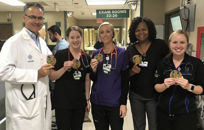 Dr. Michael Manka, Chief of Emergency Medicine; Dr. Andrea Brown; Nicole Capozzi, RN; Cassandra Yelder, ER Tech; Dr. Jessica Strauss (Contributed photo)