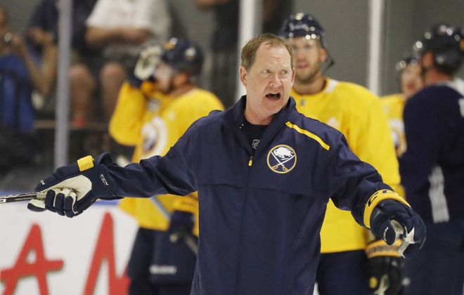 "Phil Housley says the Sabres' 10-game win streak in the fall of 2018 was ""exciting"" — and created expectations. ""We're facing a little adversity now, because of the expectations that grew off of that,"" he said. (Mark Mulville/News file photo)"