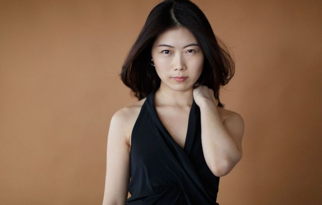 Hyejin Kim gave a graceful, passionate performance with the Buffalo Philharmonic Orchestra. (Photo by Peter Riguad)