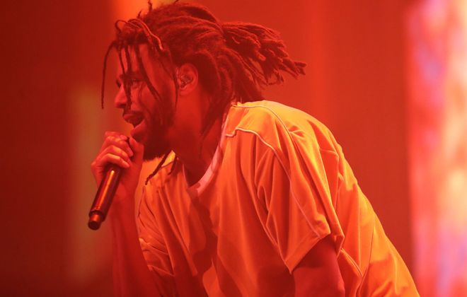 Rapper J. Cole put on an deeply personal concert at KeyBank Center. (Sharon Cantillon/Buffalo News)