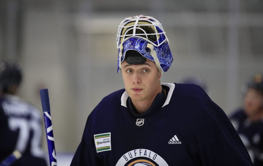 Buffalo Sabres prospect Jonas Johansson has appeared in 54 games for the Cyclones over the past two seasons. (Harry Scull Jr./Buffalo News)