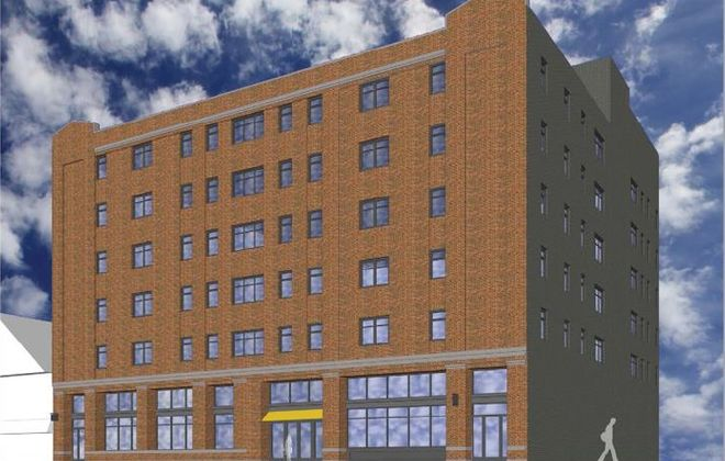 A rendering of the MidCity Apartments.