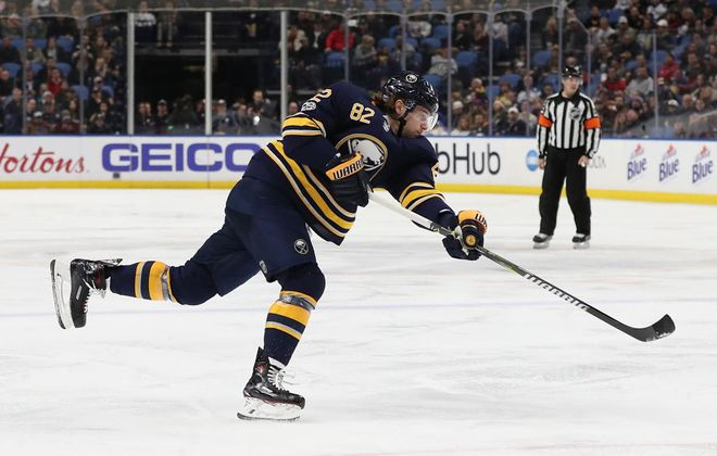 Defenseman Nathan Beaulieu scored a power-play goal for the Sabres Monday in Columbus. (Getty Images file photo)