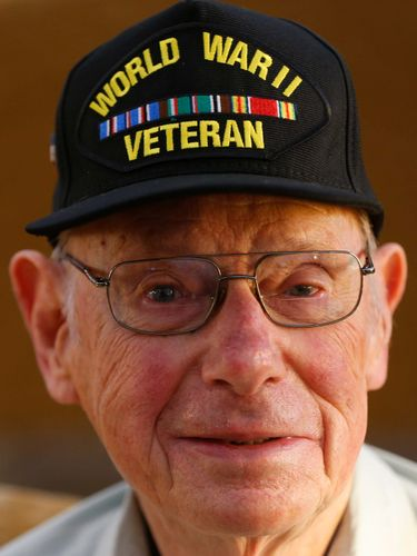 World War II veteran Robert McIsaac at his home in Amherst Thursday, Oct. 15, 2015.  (Mark Mulville/Buffalo News)