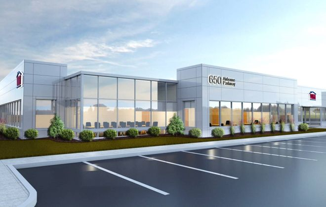 This is a rendering of the proposed new VNA headquarters building at Airborne Business Park in Cheektowaga. (Provided by Uniland Development Co.)