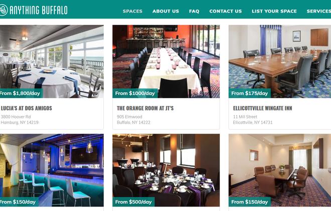 AnythingBuffalo.com is an online event space aggregator. (Website screenshot)