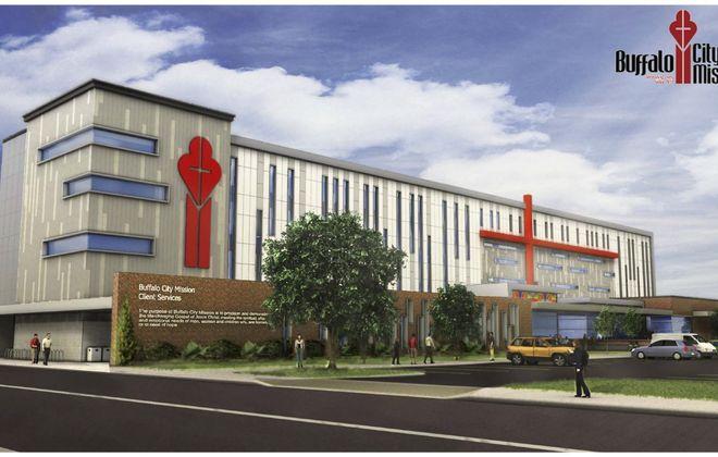 A rendering of the planned $15 million Buffalo Mission community center.
