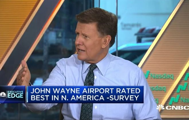 "A screen shot of Joe Kernan, co-host of CNBC's ""Squawk Box,"" during his commentary of Buffalo."
