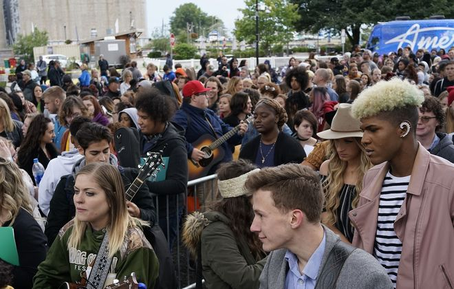 "Over a thousand people auditioned for ""American Idol"" at Canalside. (Derek Gee/Buffalo News file photo)"