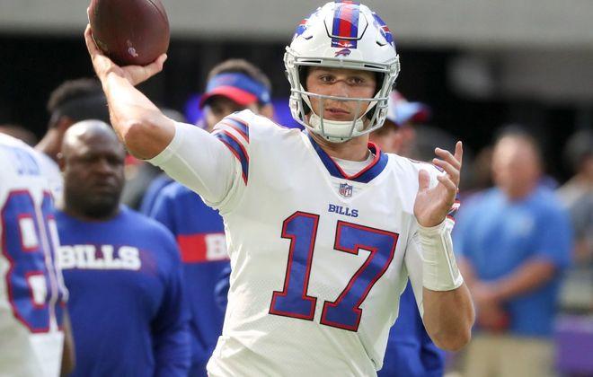 Bills quarterback Josh Allen has a better supporting cast around him entering the 2019 season. (James P. McCoy/News file photo)