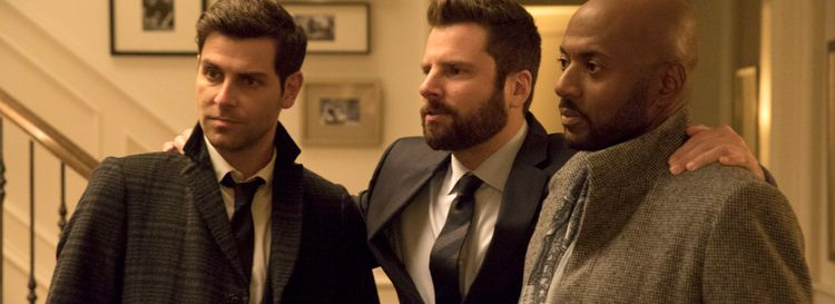 """About ABC's """"A Million Little Things,"""" Alan Pergament says he """"really, really wanted to like this series. But it tries too hard to move viewers emotionally and has several other little things that seem fake."""" Among the shows stars are, from left: David Giuntoli, James Roday and Romany Malco. (Photo by Jack Rowand/ABC)"""