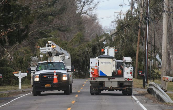 Crews are assessing storm-related damage. (John Hickey/News file photo)