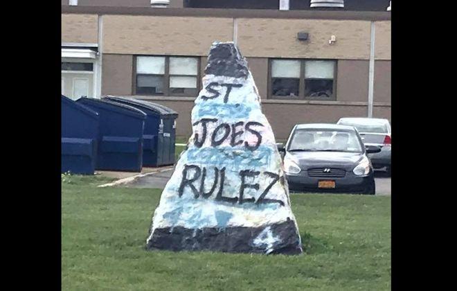 The Grand Island High School Rock (Photo courtesy of Robert Ratajczak Jr.)