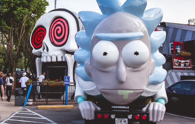 The Rickmobile will pull into the Cobblestone District on Sunday. (Rick & Morty)