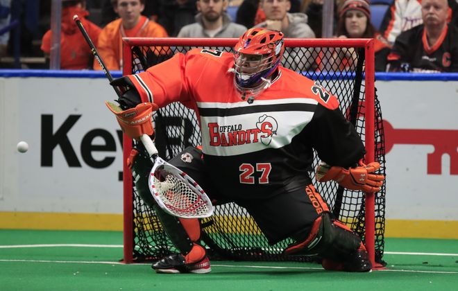 The Bandits have traded goaltender Alex Buque to New England. (Harry Scull Jr./Buffalo News)