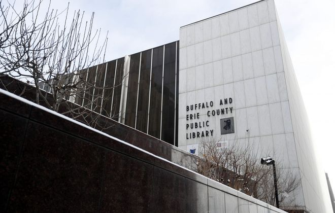 The Buffalo & Erie County Public Library's downtown branch. (Mark Mulville/Buffalo News)