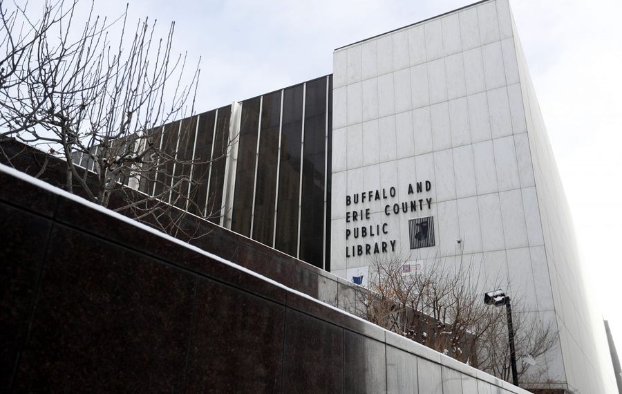 The Buffalo & Erie County Public Library is sponsoring a contest to design new library cards. (Mark Mulville/Buffalo News)