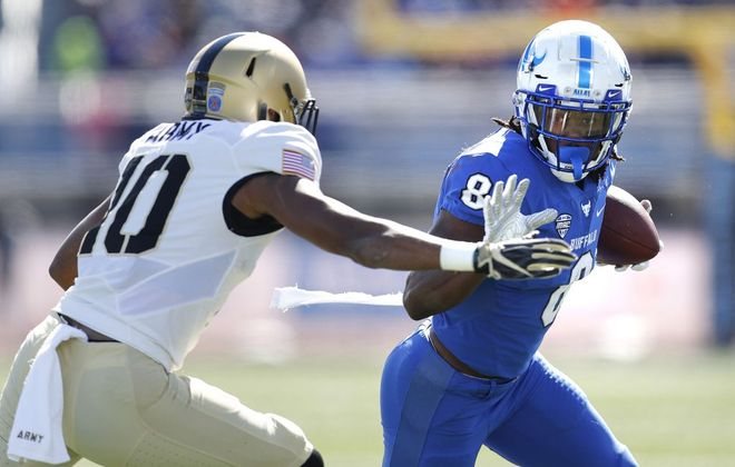 Former UB wide receiver K.J. Osborn played his final season for Miami (Fla.). (Mark Mulville/News file photo)