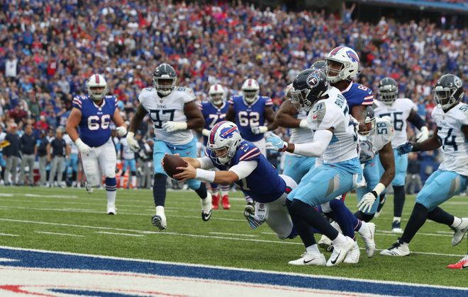 Buffalo's victory over Tennessee in Week 5 was the team's only one during the second quarter of the 2018 season. (James P. McCoy/News file photo)