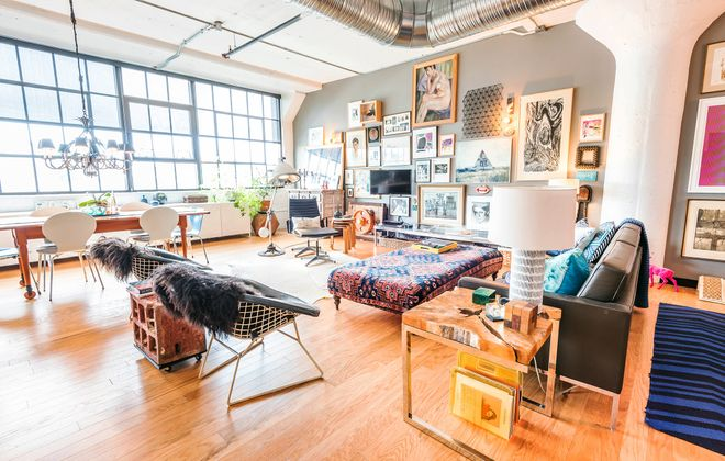 """Leah Glickman said she moved into her apartment at 500 Seneca, a newer renovation in Larkinville, because the neighborhood felt """"right."""" (Matthew Digati)"""