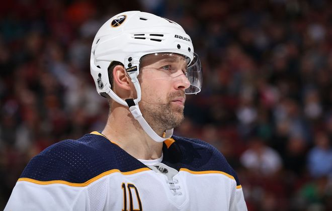 Patrik Berglund has just one point and three shots on goal in the first six games (Getty Images).