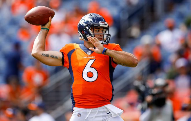 Chad Kelly was released by the Broncos after getting arrested for trespassing. (Getty Images)