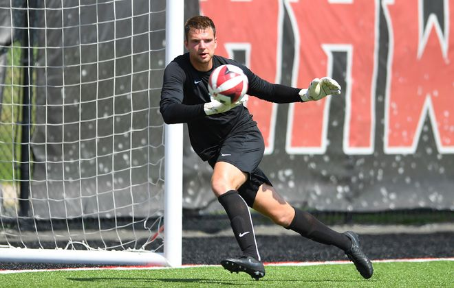 Niagara redshirt senior goalkeeper Steve Casey has remained committed to the program. (via Niagara Athletics)