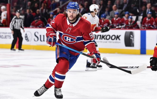 Montreal forward Jonathan Drouin has all seven of his points this season over the last five games. (Getty Images)