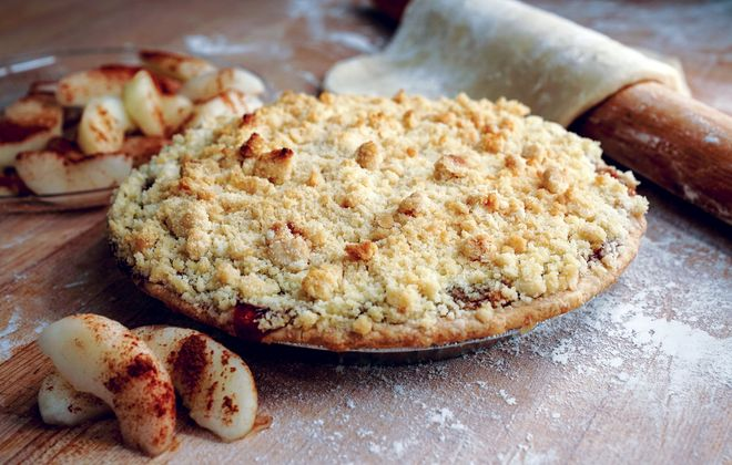 The Dutch apple pie  with crumb topping from Eileen's Centerview Bakery in West Seneca. (Dave Jarosz)