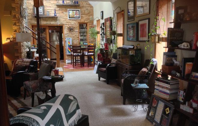 A view inside Thom Knab's cottage on Buffalo's West Side. (Photo courtesy Thom Knab)